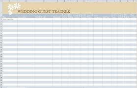 Wedding Guest List Excel Template Free Guest List Template