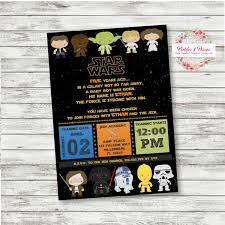 graphic design birthday invitations star wars birthday invitations star wars party custom