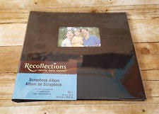 expandable scrapbook recollections black scrapbooking albums refills ebay