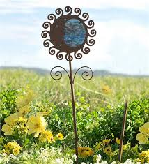 sun metal garden stake decorative garden accents