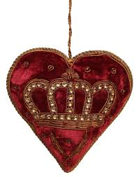 my heart ornament hand beaded u0026 sequined victorian style