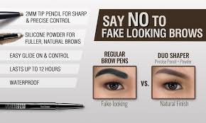 How To Pencil In Eyebrows Maybelline Fashion Brow Duo Shaper Natural Brown Lazada Ph
