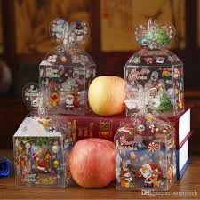 candy apple boxes wholesale christmas even clear gift box printed snowman elk santa