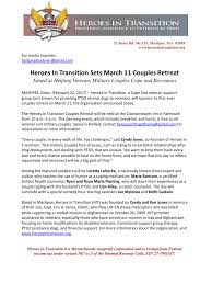 press release feb22 heroes in transition