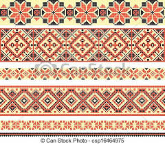 ukraine pattern vector embroidered good like handmade cross stitch ethnic ukraine