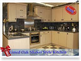 Limed Oak Kitchen Cabinets by Limed Oak Shaker Style Kitchen