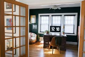 Emerald Green Home Decor before u0026 after hunter green home office jessica brigham