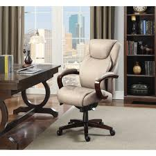 Lay Z Boy Furniture La Z Boy Linden Taupe Bonded Leather Executive Office Chair 45780