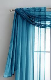 warm home designs turquoise window scarf sheer turquoise curtains Turquoise Sheer Curtains