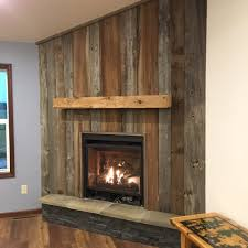 beautiful custom barnwood fireplace surround yelp