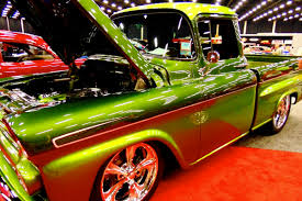 video a clean green 1959 chevy pickup to drool over
