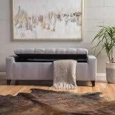 koli blanket box w storage armrest in linen fabric ottoman