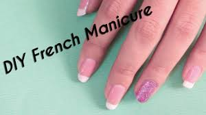 diy french manicure nail art scotch tape method youtube
