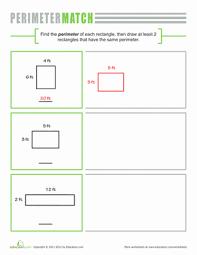 perimeter of a rectangle worksheet education com