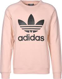 addidas sweater trefoil crew sweater pink