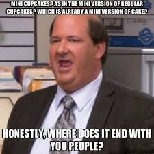 The Office Meme - kevin the office meme mini cupcakes metaphorically dying