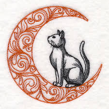 boo tiful cat in moon design m15758 from