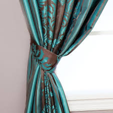 Teal Damask Curtains Best Home Fashion Wide Width Damask Jacquard Curtain