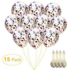 wedding balloons confetti balloons 12 silver gold glitter