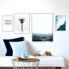 wall decor wall room compact dandelion wave letters sea water