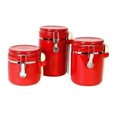 kitchen canisters canada canisters for kitchen 2 3 7 red kitchen canisters canada