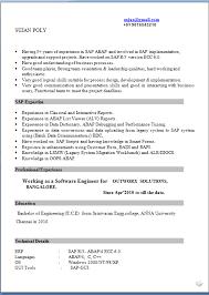 Resume For Sap Abap Fresher Sap Hr Resume Sample Sap Basis Resume Format For Freshers Fresh