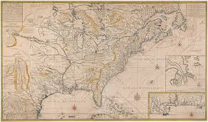 France On Map by Superb 18th Century Map Of North America Circa 1761 Excellent
