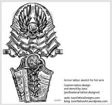 armor tattoo sketch for full arm how to create a tattoo 100 online