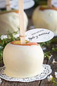 Caramel Candy Apples Wedding Favors