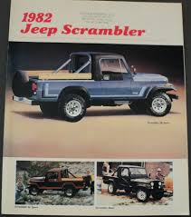 jeep 1982 jeep scrambler base sl sr sport amc original dealer sales brochure