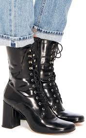 laced motorcycle boots black emanuelle lace up boot by maryam nassir zadeh moda operandi