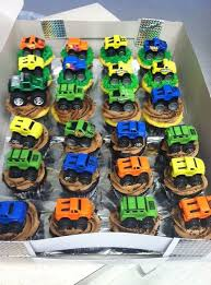 diy monster truck cupcakes dollar tree mini monster trucks