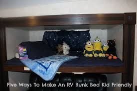 Bunk Bed Kid Five Ways To Make An Rv Bunk Bed Kid Friendly Real Reviews