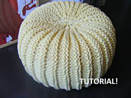 Knitting Home Decor Diy Tutorial Xxl Pouf Poof Ottoman Footstool Home Decor Pillow