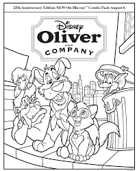 top 75 oliver and company coloring pages free coloring page