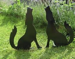 Cat Garden Decor Dog Chasing Cat Shadow Art Outdoor Cat And Dog Dog And Cat