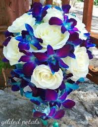 blue and purple flowers show me your flowers weddingbee