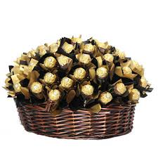 chocolate baskets a bouquet 50 pieces ferrero rocher chocolate basket