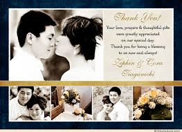 gold ivory wedding thank you cards five photo