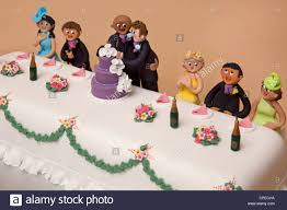 marriage cake top table wedding cake of couples marriage stock photo