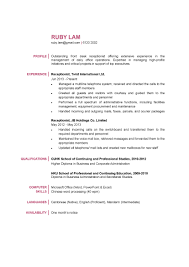 Resume Job Description For Receptionist by Resume For A Receptionist Resume For Your Job Application