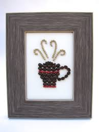 Cafe Kitchen Decor by Coffee Bean Fine Art 5x7 Eco Friendly Frame Kitchen Decor With