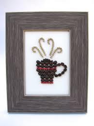 Cafe Kitchen Decor by Coffee Bean Fine Art 5x7 Eco Friendly Frame Kitchen Decor With