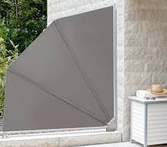 balkon trennwand stilvoll faltbarer sichtschutz paravent flexi 3 garten system