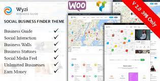 wyzi v2 0 1 wordpress social business finder directory theme