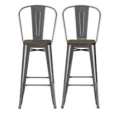 Furniture Bar Stool Chairs Backless by Furniture Brushed Aluminum Counter Height Stools With Backs