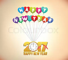 happy new year balloon happy new year 2017 background with gold clock and balloons