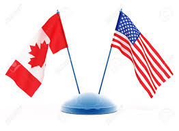 National Flag Of Canada Day National Flags Of Usa And Canada Isolated 3d Illustration Stock