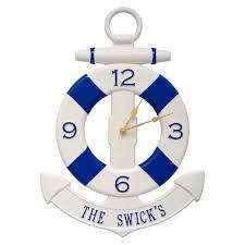 personalized preserver personalized preserver and anchor clock everything nautical