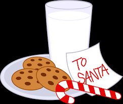 cookies and milk for santa claus free clip art